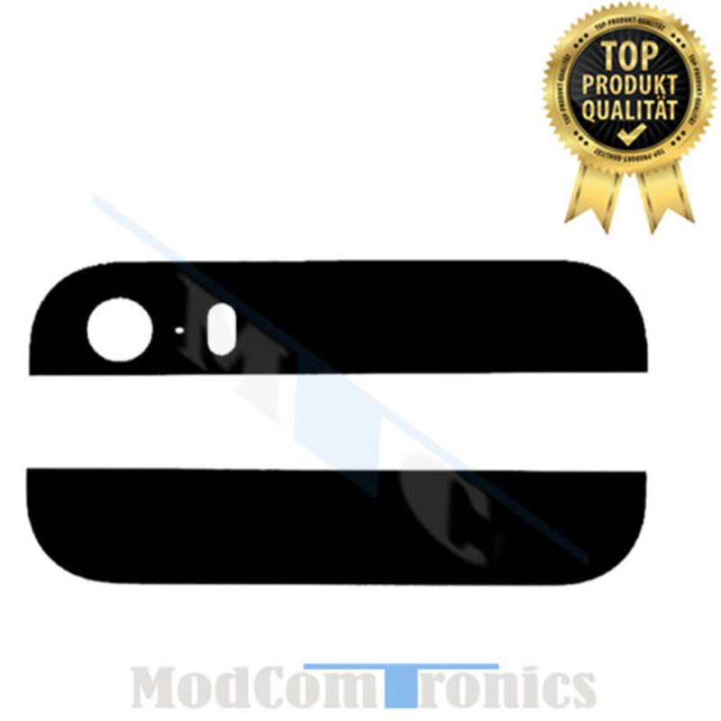 iPhone 5S Backcover Glas schwarz