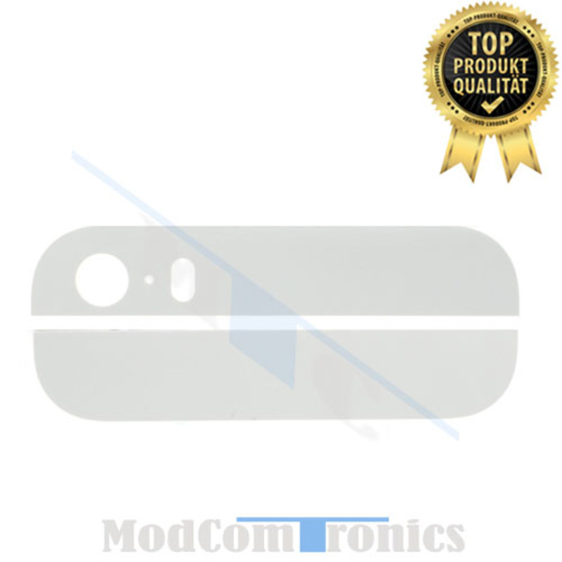 iPhone 5S - Backcover Glas weiss