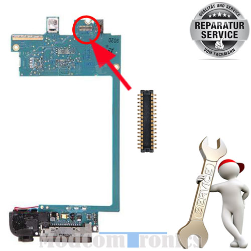 iPod Touch 4 Reparatur - Austausch FPC Connector LCD Display